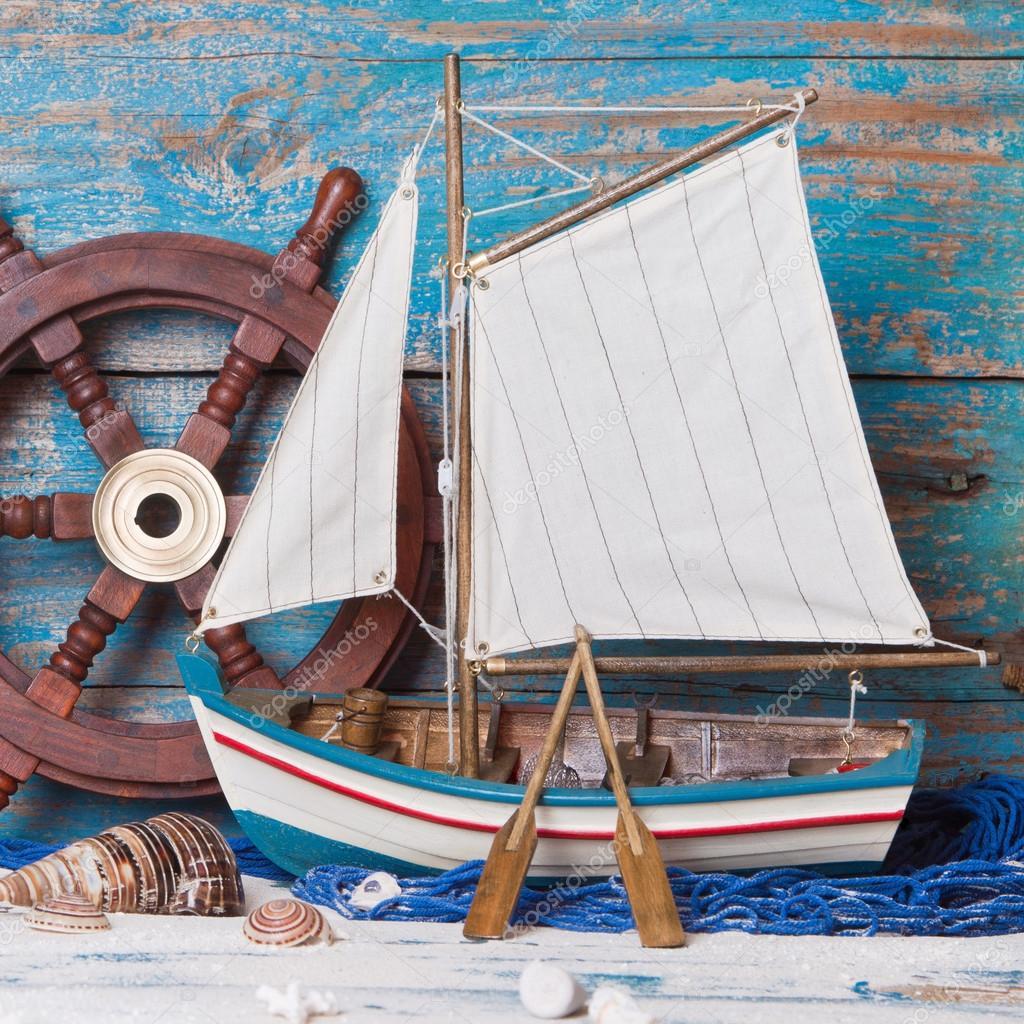 Zeilboot decoratie stockfoto jeanette dietl 34632061 for Decoratie zeilboot