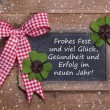 Chalk board for Merry Christmas message, santa on wooden background for a greeting card - country style - old slate sign - text — Stok fotoğraf