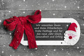 Chalk board for Merry Christmas message, santa on wooden background for a greeting card - country style - old slate sign - text — Stock Photo