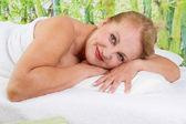 Senior lady at spa — Photo