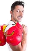 Male boxer — Stock Photo