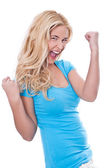 Woman beaming with happiness — Stock Photo
