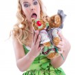 Teddy bear lovers — Stock Photo #35380393