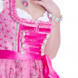 Woman in pink dirndl — Stock Photo