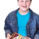 Happy school boy — Stock Photo