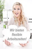Flexible arbeitszeiten — Stockfoto