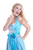 Beautiful bavarian girl — Stockfoto
