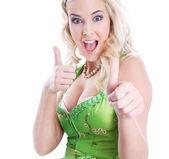 Sexy bavarian blonde — Zdjęcie stockowe