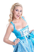 Typical Bavarian hot woman — Stock Photo