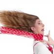 Woman stressed in panic — Stock Photo
