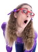 Fille coquine à lunettes — Photo