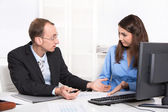 Business team - problems under men and woman - misunderstandings — Foto Stock