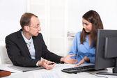 Business team - problems under men and woman - misunderstandings — Photo