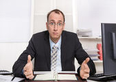 Typical managing director or controller - arrogant and disagreeable — Stock Photo