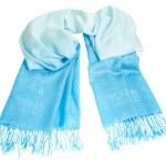 Cashmere scarf on white background. — Stock Photo