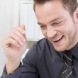 Laughing businessman — Stock Photo
