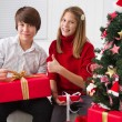 Children on Christmas — Stock Photo