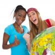 Stock Photo: Best friends from another continent
