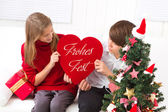 Kinderen wensen u prettige kerstdagen — Stok fotoğraf