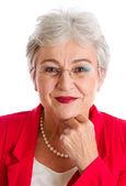 Serious elderly woman — Stock Photo