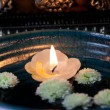 Stock Photo: Floating Candle Asia