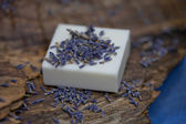 Mýdlo levandulevelký hrnek — Stock fotografie