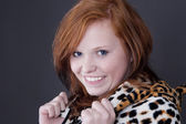 Red-haired young woman — Stock Photo