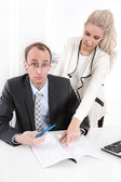 Competence - woman as a managing director. — Stock Photo
