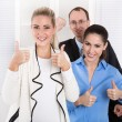 Foto de Stock  : Successful young businesspeople - good cooperation.