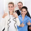 Successful young businesspeople - good cooperation. — Stock Photo