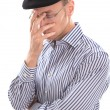Frustrated desperate Frenchman — Stock Photo