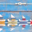 Shabby toy boats — Stock Photo