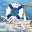Holiday concept - maritime decoration — Stock Photo
