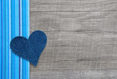 Denim blue heart — Stock Photo