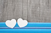 Paper hearts on wooden background — Foto Stock