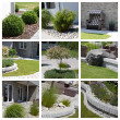 Garden design photo collage — Stock Photo