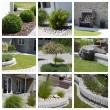 Garden design photo collage — Stockfoto