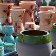 Stock Photo: Assortment of empty flowerpots.