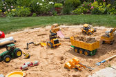 Sandpit in garden — Stock Photo
