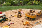 Sandpit in garden — Stock Photo