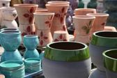 Assortment of empty flowerpots. — Stock Photo