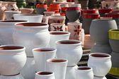 Assortment of empty flowerpots. — Zdjęcie stockowe