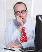 Frustrated business man — Stock Photo