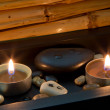 Zen stones and candles — Stock Photo #37425097