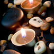 Foto Stock: Candlelight with Chinese characters