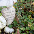 Grave ornament with heart — Stock Photo