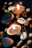 Candlelight with Chinese characters — 图库照片