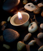 Candlelight with Chinese characters — Photo