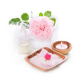 Spa set with rose — Stock Photo