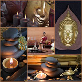 Spa decoration with Buddha — Stock Photo